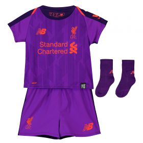 Liverpool Away Baby Kit 2018-19 with Virgil 4 printing