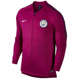Manchester City Squad Track Jacket - Maroon