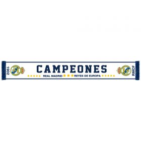 Real Madrid Campeones Scarf - White - Adult