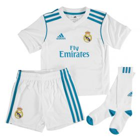 Real Madrid Home Kids Kit 2017-18 with Campeones 10 printing