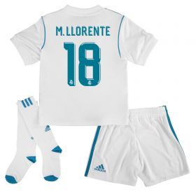 Real Madrid Home Kids Kit 2017-18 with M. Llorente 18 printing