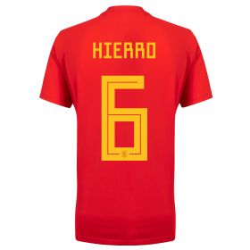 Spain Home Legends Shirt 2018 with Hierro 6 printing