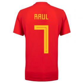 Spain Home Legends Shirt 2018 with Raúl 7 printing