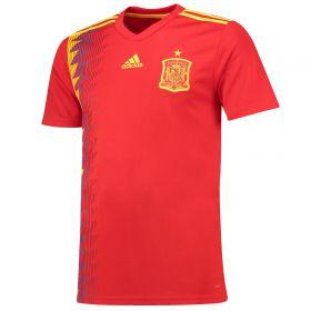 Spain Home Shirt 2018 with Lucas V. 11 printing