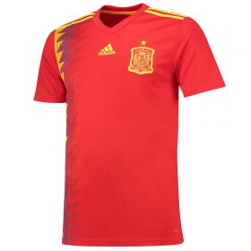Spain Home Shirt 2018 with Pique 3 printing