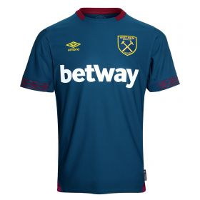 West Ham United Away Shirt 2018-19 with J. Mario 18 printing