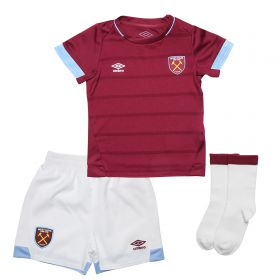 West Ham United Home Baby Kit 2018-19 with Zabaleta 5 printing