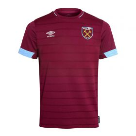 West Ham United Home Shirt 2018-19 - Kids with Lanzini 10 printing