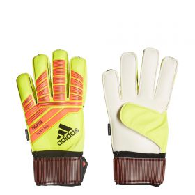 adidas Predator Fingersave Goalkeeper Gloves - Yellow