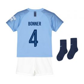 Manchester City Home Cup Stadium Kit 2018-19 - Infants with Bonner 4 printing