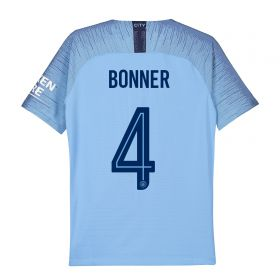 Manchester City Home Cup Stadium Shirt 2018-19 - Kids with Bonner 4 printing