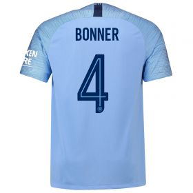 Manchester City Home Cup Stadium Shirt 2018-19 with Bonner 4 printing