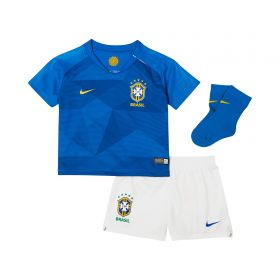 Brazil Away Stadium Kit 2018 - Infants with Marcelo 12 printing