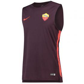 AS Roma Squad Sleeveless Training Top - Burgundy
