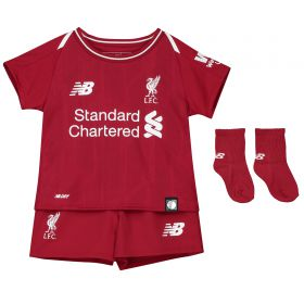Liverpool Home Baby Kit 2018-19 with Firmino 9 printing