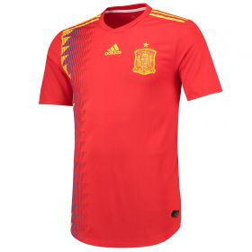 Spain Authentic Home Shirt 2018 with A.Iniesta 6 printing
