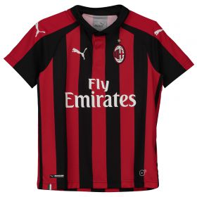 AC Milan Home Shirt 2018-19 - Kids