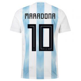 Argentina Home Legends Shirt 2018 with Maradona 10 printing