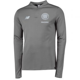 Celtic Elite Training Mid-Layer Top - Grey