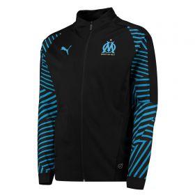 Olympique de Marseille Training Stadium Jacket - Black