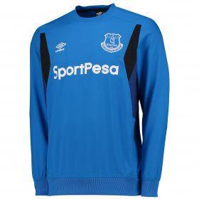 Everton Training Drill Top - Electric Blue/Sodalite Blue/Black