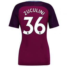 Manchester City Away Stadium Shirt 2017-18 - Womens with Zuculini 36 printing