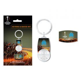 Olympique de Marseille UEFA Europa League Keyring & Badge Set