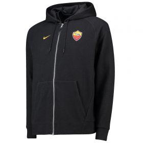 AS Roma Venue Full Zip Hoodie - Black