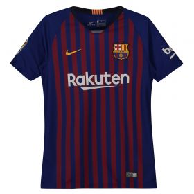 Barcelona Home Vapor Match Shirt 2018-19 - Kids with Aleix Vidal 22 printing