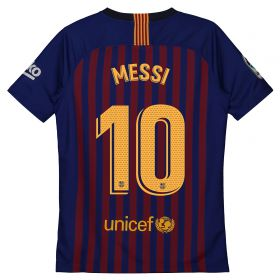Barcelona Home Vapor Match Shirt 2018-19 - Kids with Messi 10 printing