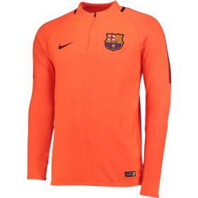 Barcelona Squad Drill Top - Orange - Kids