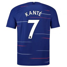 Chelsea Home Vapor Match Shirt 2018-19 - Kids with Kanté 7 printing