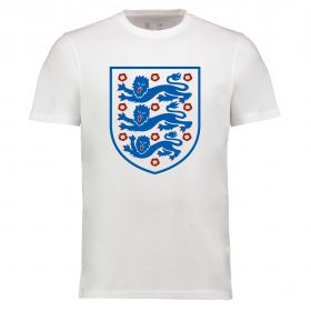 England Large Crest Tshirt - White - Adults