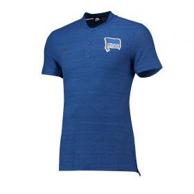 Hertha Berlin Authentic Grand Slam Polo - Blue