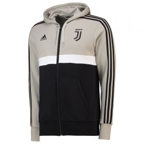 Juventus 3 Stripe Full Zip Hoody - Light Green