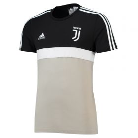 Juventus 3 Stripe T-Shirt - Light Green