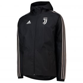 Juventus Training Rain Jacket - Black