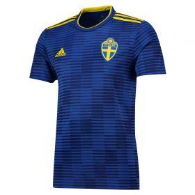 Sweden Away Shirt 2018 with Ibrahimovic 10 printing