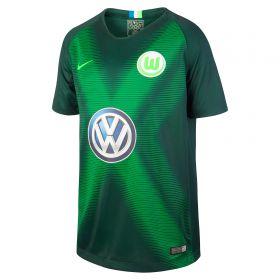 VfL Wolfsburg Home Stadium Shirt 2018-19 - Kids with Weghorst 9 printing