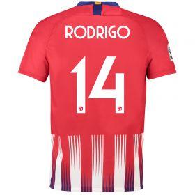 Atlético de Madrid Home Cup Stadium Shirt 2018-19 with Rodrigo 14 printing