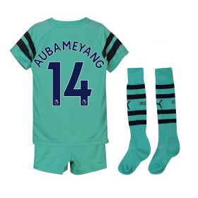 Arsenal Third Mini Kit 2018-19 with Aubameyang 14 printing