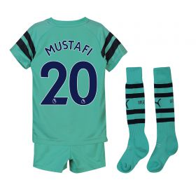 Arsenal Third Mini Kit 2018-19 with Mustafi 20 printing