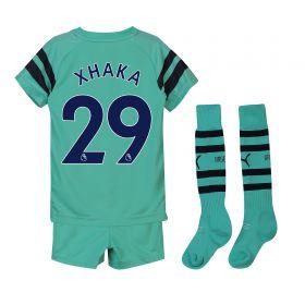 Arsenal Third Mini Kit 2018-19 with Xhaka 29 printing