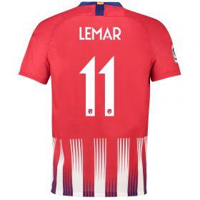 Atlético de Madrid Home Cup Stadium Shirt 2018-19 with Lemar 11 printing