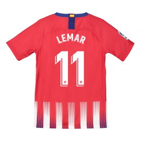 Atlético de Madrid Home Stadium Shirt 2018-19 - Kids with Lemar 11 printing