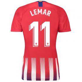 Atlético de Madrid Home Stadium Shirt 2018-19 - Womens with Lemar 11 printing