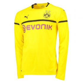 BVB Cup Home Shirt 2018-19 - Long Sleeve with Isak 14 printing