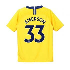 Chelsea Away Stadium Shirt 2018-19 - Kids with Emerson 33 printing