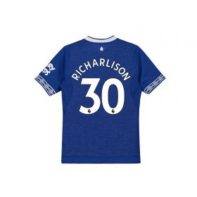 Everton Home Shirt 2018-19 - Kids with Richarlison 30 printing