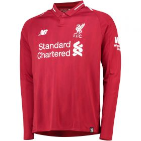 Liverpool Home Shirt 2018-19 - Long Sleeve with Mané 19 printing